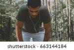 african american man preparing... | Shutterstock . vector #663144184