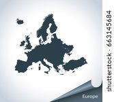 map of europe | Shutterstock .eps vector #663145684