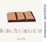 national milk chocolate day  ... | Shutterstock .eps vector #663150523