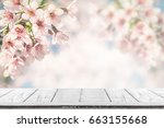 empty wood table top for... | Shutterstock . vector #663155668