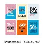 sale of women's shoes | Shutterstock .eps vector #663160750