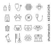 set of veterinary related...   Shutterstock .eps vector #663161434