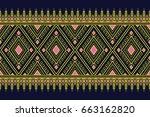 geometric ethnic pattern...   Shutterstock .eps vector #663162820