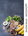 healthy food nutrition dieting... | Shutterstock . vector #663164299