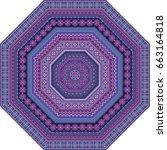 vector abstract mosaic ethnic... | Shutterstock .eps vector #663164818