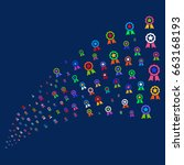 source of certificate seal... | Shutterstock . vector #663168193