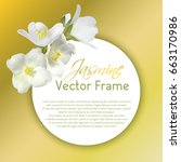 jasmine flower circle vector... | Shutterstock .eps vector #663170986