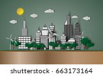 vector earth day and world...   Shutterstock .eps vector #663173164