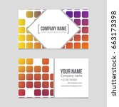 abstract vector layout... | Shutterstock .eps vector #663173398
