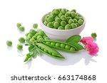 Healthy Food. Fresh Green Peas...