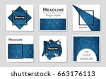 abstract vector layout...   Shutterstock .eps vector #663176113