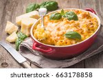 mac and cheese  american style...   Shutterstock . vector #663178858