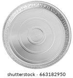 empty round shape for baking.... | Shutterstock . vector #663182950