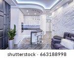 modern design interior room...   Shutterstock . vector #663188998