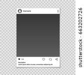 social network photo frame for...   Shutterstock .eps vector #663202726
