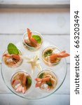selective focus on spicy prawn... | Shutterstock . vector #663203494