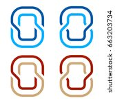 letter o number 0 zero icon... | Shutterstock .eps vector #663203734