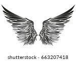 wings. vector illustration on... | Shutterstock .eps vector #663207418