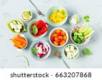healthy dietetic vegetarian... | Shutterstock . vector #663207868