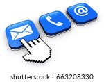 website contact us buttons with ... | Shutterstock . vector #663208330