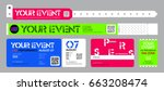 event entrance ticket  and... | Shutterstock .eps vector #663208474