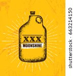 moonshine jug pure original... | Shutterstock .eps vector #663214150