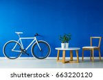 black and white bicycle... | Shutterstock . vector #663220120