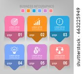 infographic template six steps...   Shutterstock .eps vector #663225949