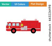 fire service truck icon. flat... | Shutterstock .eps vector #663226498