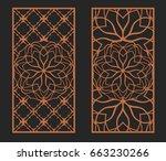 laser cutting set. wall panels. ... | Shutterstock .eps vector #663230266