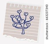 love tree doodle | Shutterstock .eps vector #663237340