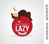 national lazy day | Shutterstock .eps vector #663240478