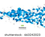 abstract blue geometric... | Shutterstock .eps vector #663242023