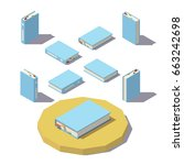 isometric book from different...   Shutterstock .eps vector #663242698