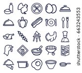 cooking icons set. set of 25... | Shutterstock .eps vector #663243553