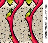 exotic vector pattern. dragon... | Shutterstock .eps vector #663244708