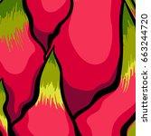 exotic vector pattern. dragon... | Shutterstock .eps vector #663244720