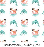 hand drawn vector abstract cute ... | Shutterstock .eps vector #663249190