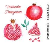 hand drawn watercolor... | Shutterstock . vector #663255310