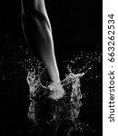 hand shoot water | Shutterstock . vector #663262534