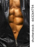 close up of human body. fitness ... | Shutterstock . vector #663264754