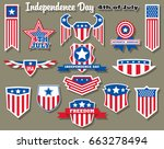 vector independence day... | Shutterstock .eps vector #663278494