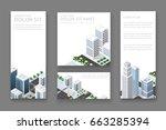 set business card templates....   Shutterstock .eps vector #663285394