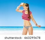 perfect summer. happy active...   Shutterstock . vector #663295678