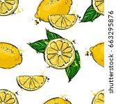 seamless vector abstract... | Shutterstock .eps vector #663295876