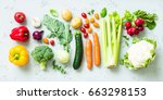 kitchen   fresh colorful... | Shutterstock . vector #663298153