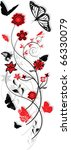 floral ornament with butterflies | Shutterstock . vector #66330079