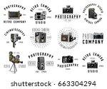 photo logo emblem or label ... | Shutterstock .eps vector #663304294