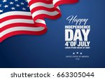 fourth of july independence day.... | Shutterstock .eps vector #663305044