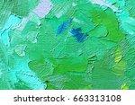 abstract oil paint texture on... | Shutterstock . vector #663313108